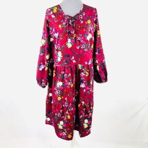 JustFab 2X Burgundy floral nightout/wedding dress